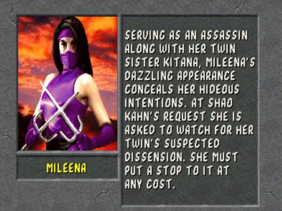 MK2 Biographie Mileena