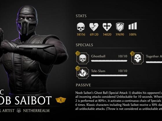 Noob Saibot Klassik MK Mobile Render