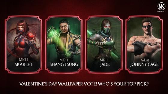 Valentins Day - Skarlet Johnny Cage Jade Shang Tsung