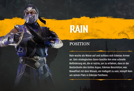 MK11 Rain Biographie
