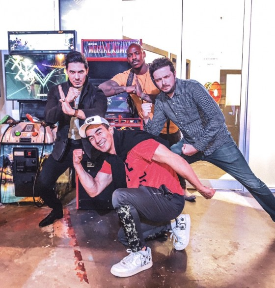 Gruppenfoto Lewis Tan, Josh Lawson, Mehcad Brooks
