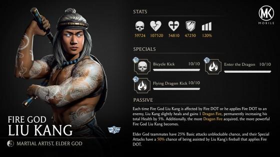 Liu Kang Stats MKMobile