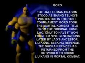 MK4 Biographie Goro